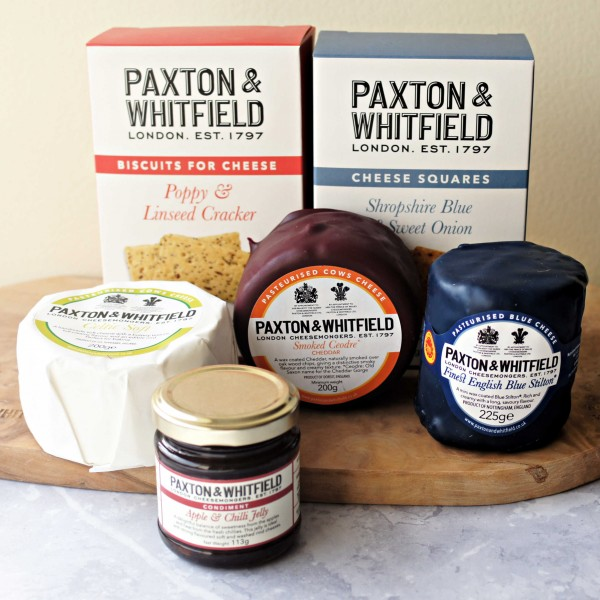 Red white and blue cheese gift collection