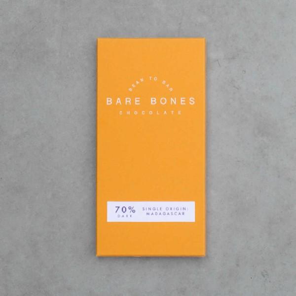 "Bare Bones ""Bean to Bar"" Madagascar 70% Chocolate"