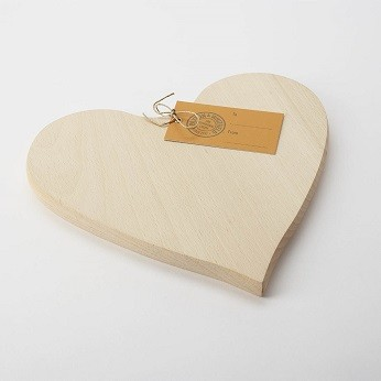 Beech Wood Heart Shaped board