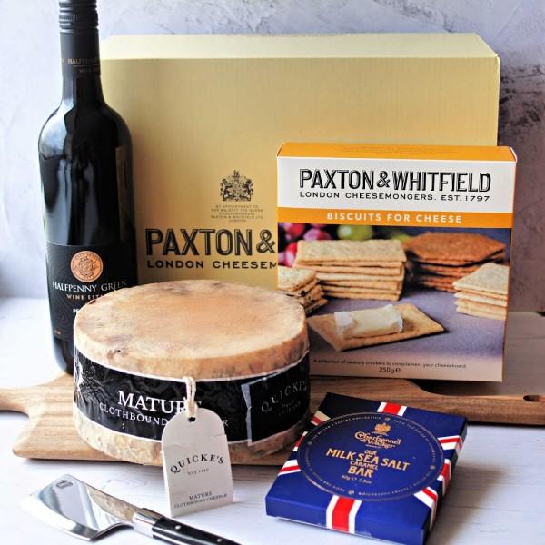 The Very English Cheese & Wine Gift Box