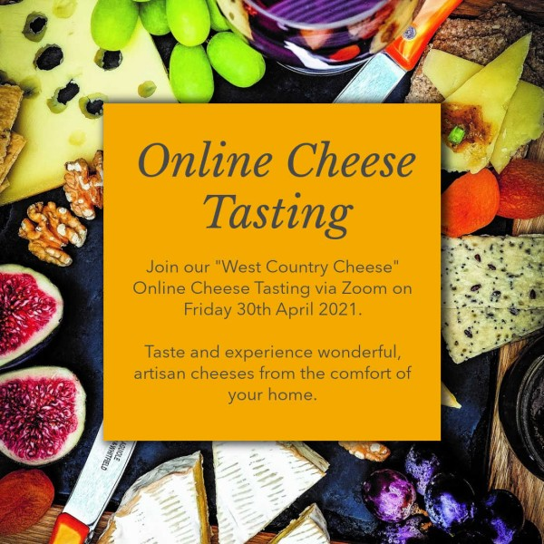 "Online Cheese Tasting: 30th April ""West Country Cheese"""