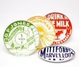 Plate Set Milk Bottle Tops